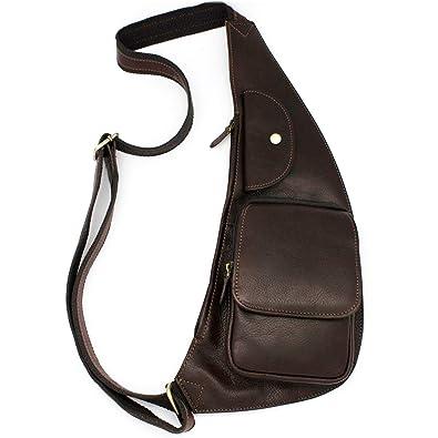 66dfd8570e LIVAN - Sacoche pochette à bandoulière pour Homme - Porté au dos travers ou  à l