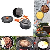 Bisgear Camping Cookware Kettle Pot Pan Mess Kit