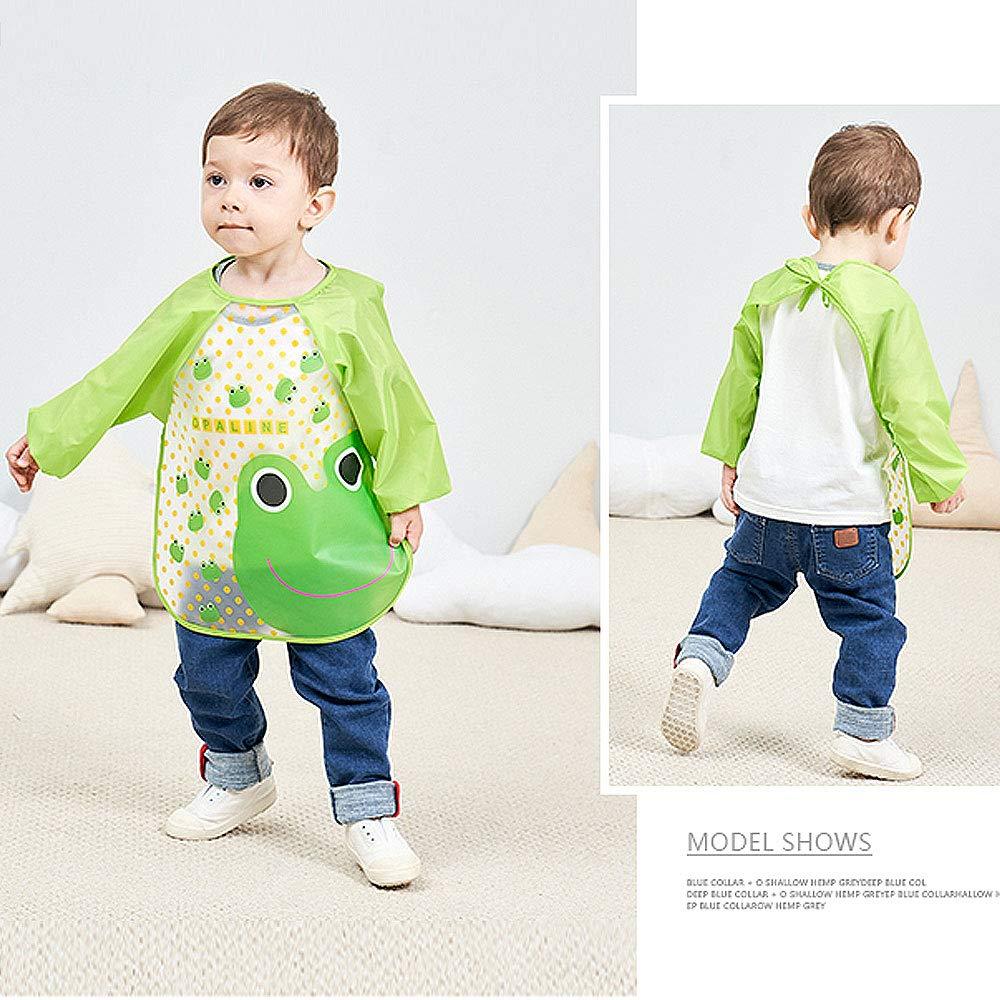 Baby Malsch/ürze Bastelsch/ürze Taschent/ücher 3er Wasserdicht Baby L/ätzchen mit /Ärmeln Essen und Play Smock Sch/ürze f/ür Kleinkinder f/ür 6-24 Monate Kinder
