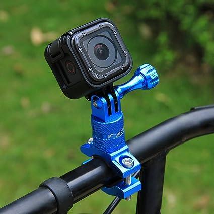 Puluz 360 Grad Rotation Aluminium Fahrradlenker Adapterhalterung Mit Schraube Für Gopro Hero 6 5 4 4 3 3 3 2 1 Session 5 4 Xiaoyi Sportkamera Sport Freizeit