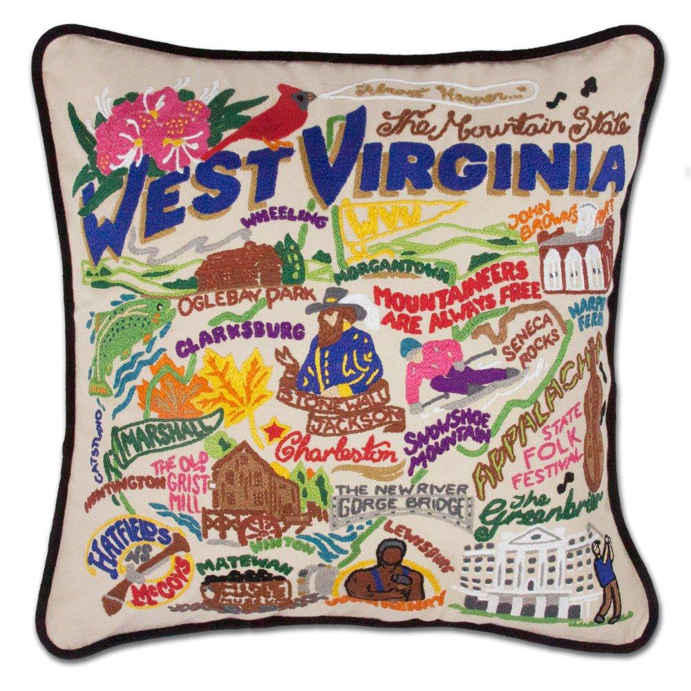 Catstudio West Virginia Pillow - Original Geography Collection Home Décor 060(CS)