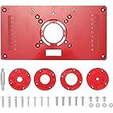 Mesa rotativa multifuncional Placa de inserção Bancos para carpintaria Alumínio Modelos de aparador roteador de madeira Máqui
