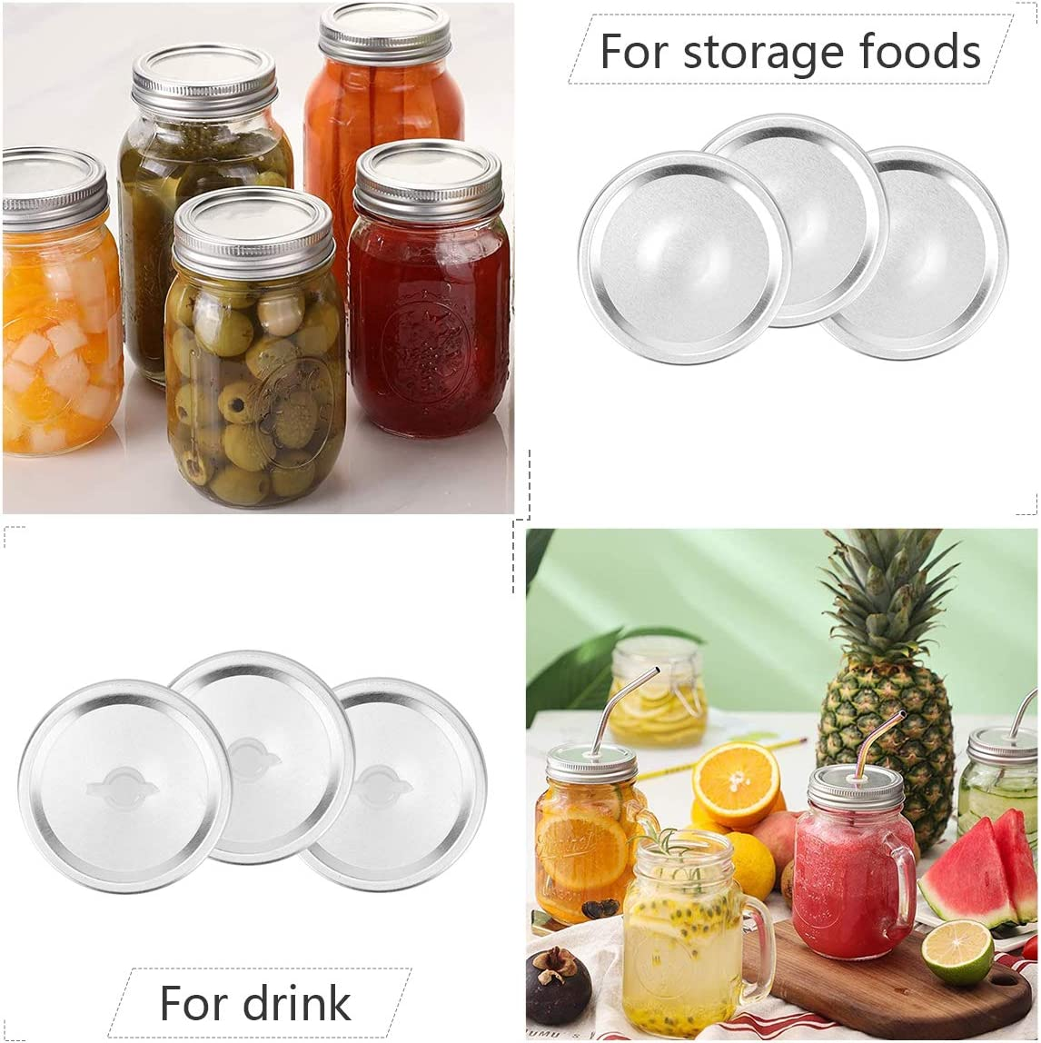 36 Pieces Mason Jar Lids Rings Regular Mouth Canning