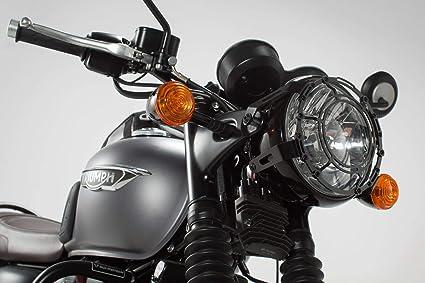 Amazoncom Sw Motech Steel Headlight Guard For Triumph Bonneville