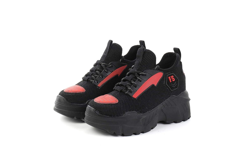 HOESCZS Nouvelle Mode Sauvage Sauvage Épaisses Chaussures Plates À Semelles Épaisses Sauvage Sneakers pour Femmes 37|Red fa4404