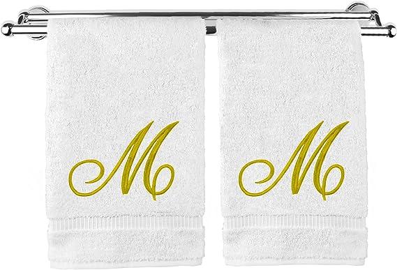 Avanti Linens 13434WPW Monogrammed Fingertip Towels D