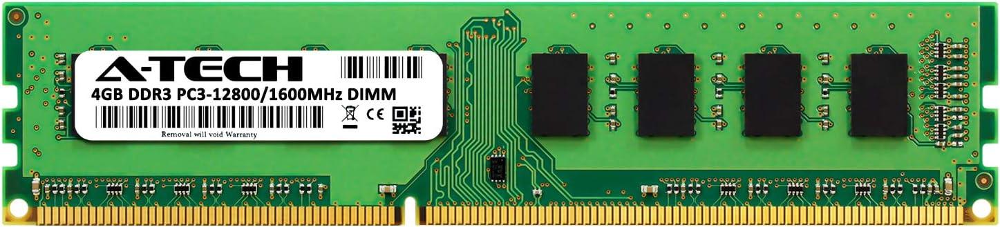 A-Tech 4GB RAM for Gateway SX Desktop SX2185-UB37 DDR3 1600MHz DIMM PC3-12800 240-Pin Non-ECC UDIMM Memory Upgrade Module