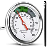 Long Stem Compost Soil Thermometer - Fast Response Stainless Steel 16 Inch - Fahrenheit and Celsius - Includes…