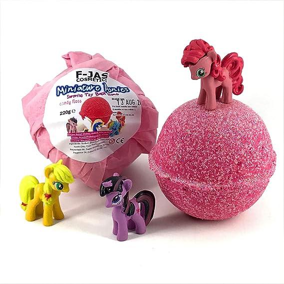 mi pequeño Pony Bomba de baño con juguete sorpresa algodón de azúcar 220g: Amazon.es: Belleza