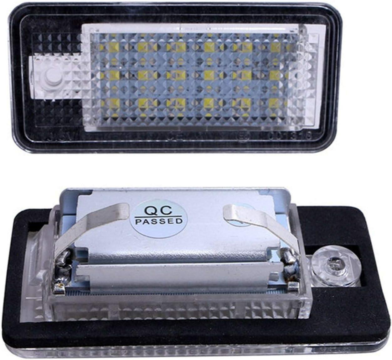 A4 RS4 A5 S3 A8 resistente al agua S4 A6 S8 Un par de luces LED para matr/ícula de repuesto para A3 l/ámpara LED 3582 SMD con CanBus sin errores Q7 C6 RS4 RS6