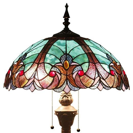 Amazon.com: 16 F01 estilo Tiffany – Lámpara de pie con ...