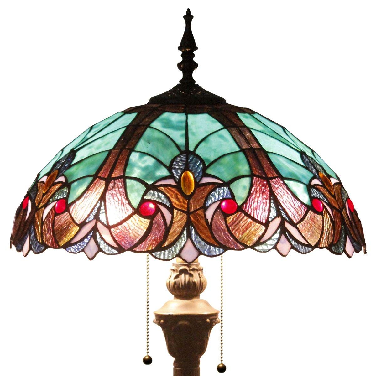Tiffany Style Reading Floor Lamp Table Desk Lighting GREEN LIAISON W16H64 E26