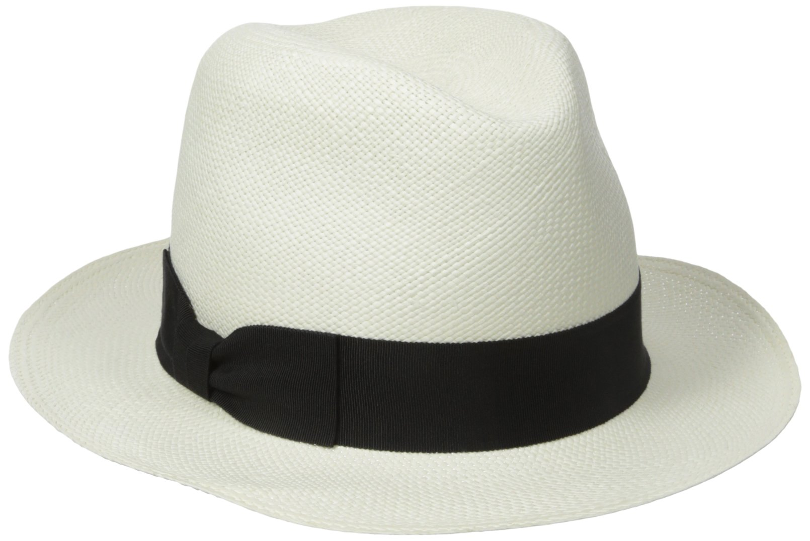 Hat Attack Women's The Original Panama Hat With Classic Bow Ribbon Trim, Bleach/Black, One Size by Hat Attack