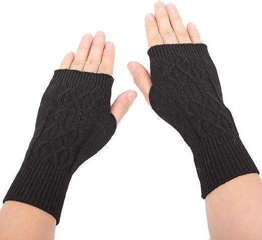 Fashion Women/'s Winter Warm Knit Gloves Warmer Mittens Finger Gloves New