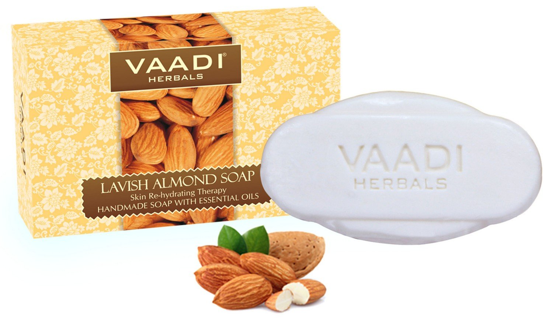 Vaadi Herbals Lavish Almond Soap Cleanses Skin Keep Your Skin Soft 75g Pack Of 6 Health & Beauty