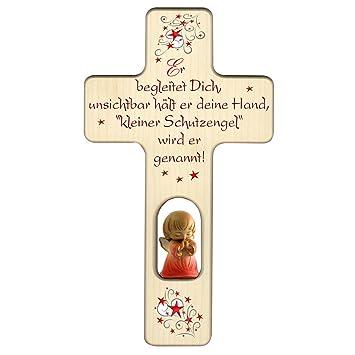 Engelkreuz Für Mädchen Zu Geburt Oder Taufe Mit Schutzengel Und Spruch