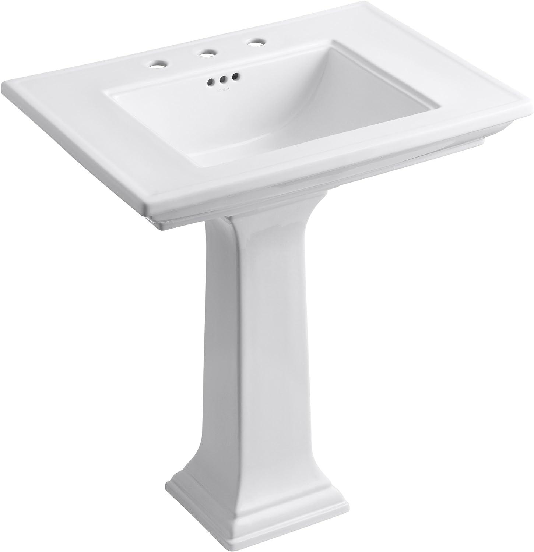 Kohler K 2268 8 0 Memoirs Pedestal Bathroom Sink With 8 Centers And Stately Design White Pedestal Sinks Amazon Com