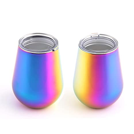 5571c62bb5a Image Unavailable. Image not available for. Color: Cambridge Silversmiths  93822QTR 14-Ounce Rainbow Finish Double Wall ...