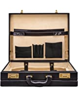 Maxwell Scott Personalized Luxury Lawyers Handcrafted Italian Leather Attache Case (The Strada) - One Size