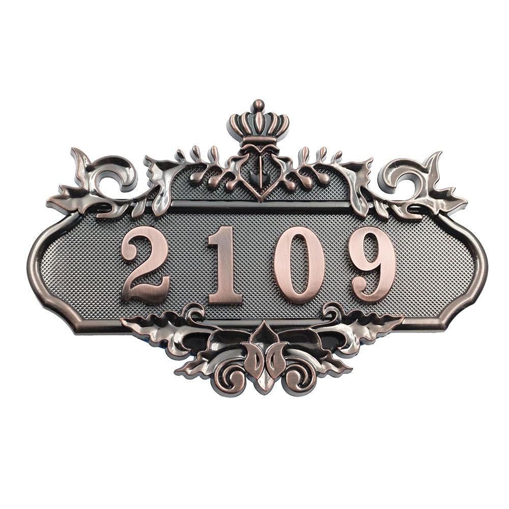 Aspire Customized Home Address Sign, House Hotel Office Number Sign, Personalized Address Plaque Sign, Small Size, Aprox 4.5'' L x 7.5'' W
