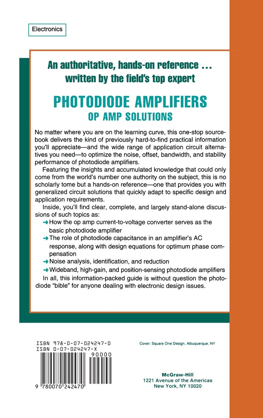 Photodiode Amplifiers Op Amp Solutions Jerald G Graeme Operational Amplifier Applications Wikipedia 0884112650014 Books