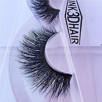 725cd2b7411 Amazon.com : Nobel Hair Long Thick Dramatic Look Handmade Reusable 3D Mink  False Eyelashes For Makeup 1 Pair Pack A09 : Beauty