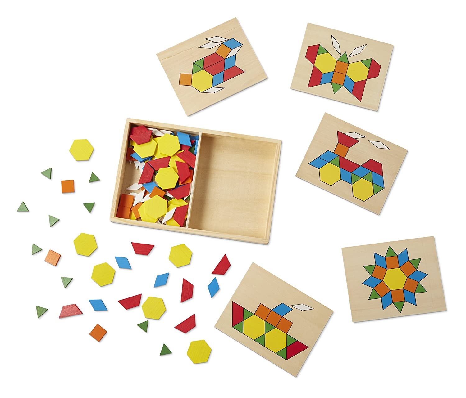 Amazon Melissa & Doug Pattern Blocks and Boards Classic Toy