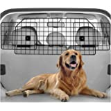 rabbitgoo Dog Car Barrier for SUVs, Van, Vehicles - Adjustable Large Pet SUV Barriers Universal-Fit, Heavy-Duty Wire…