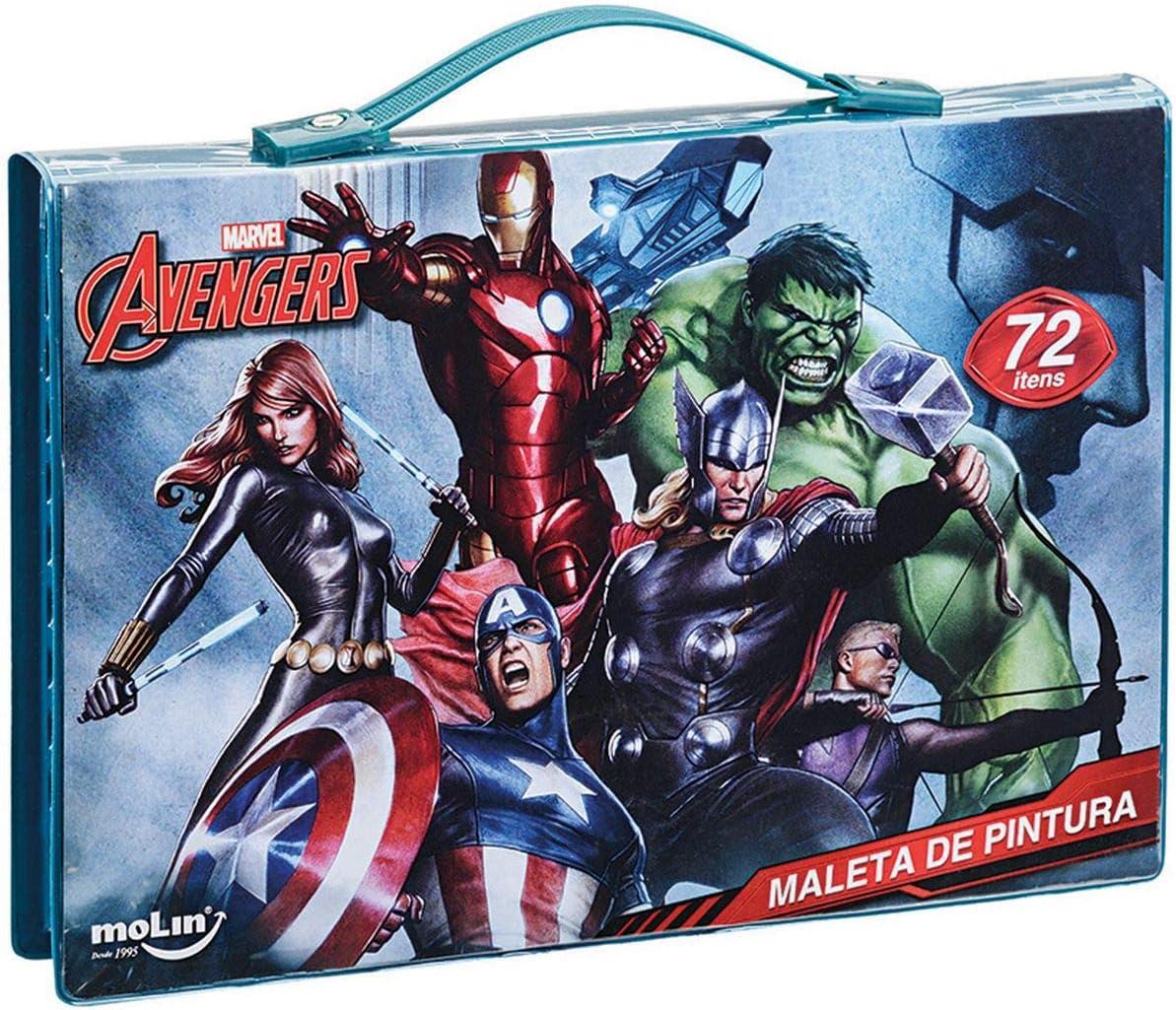 Maleta Para Pintura Licenciada The Avengers Completa Plastic