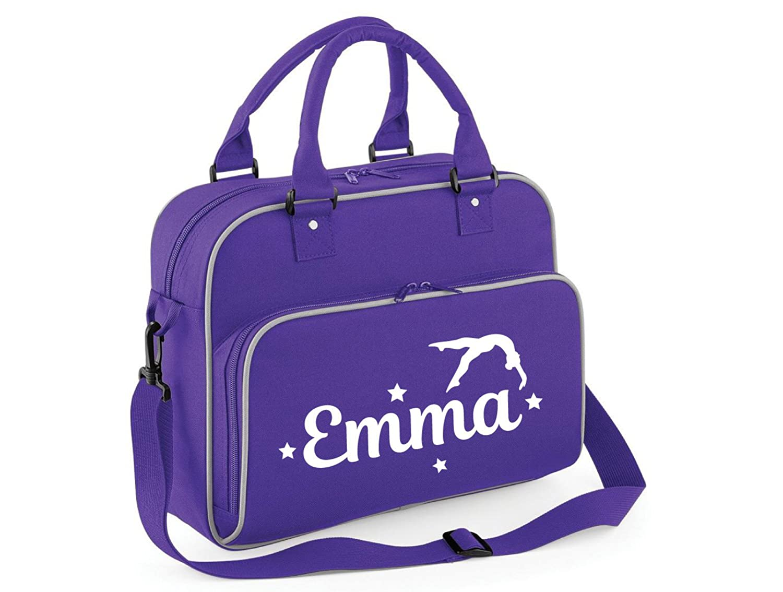 beyondsome Personalised Girls Gymnastics Flip Shoulder Bag