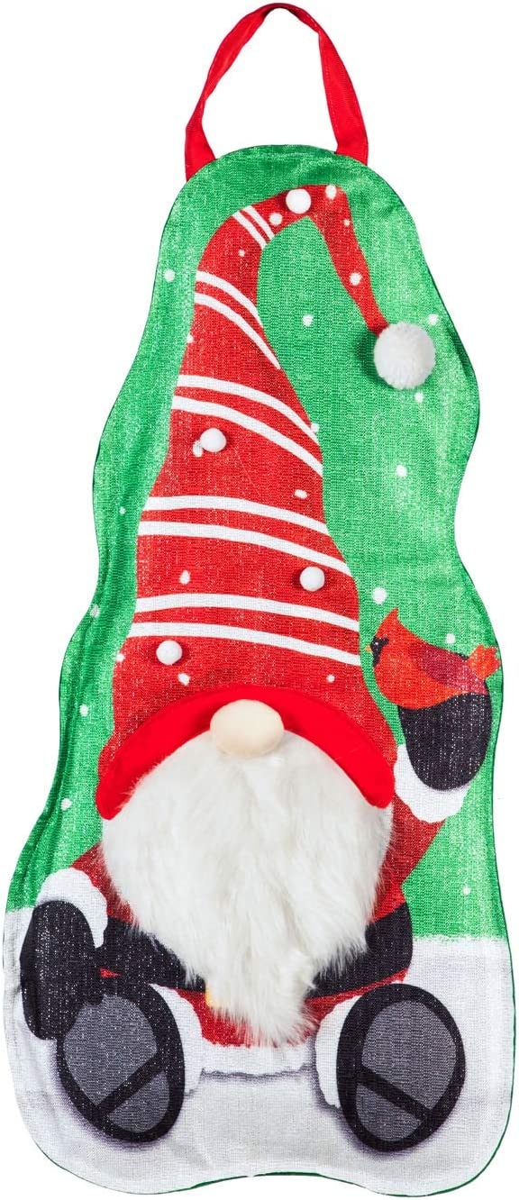 Evergreen Flag Beautiful Christmas Santa Claus Totem Pole Statement Stake Décor - 11 x 1 x 24 Inches Fade and Weather Resistant Outdoor Decoration for Homes, Yards and Gardens