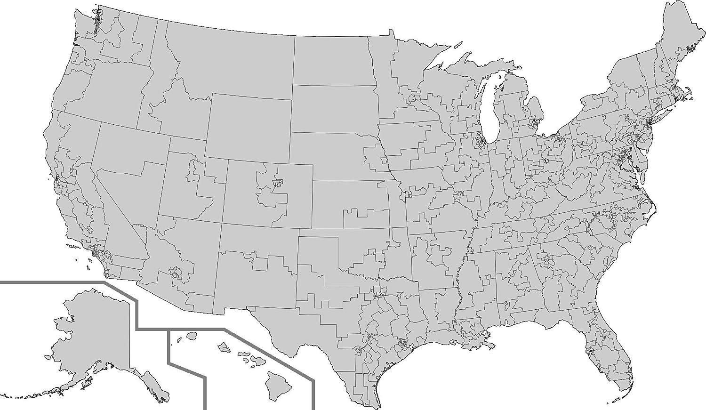 Amazon.com: Laminated Map - File 113th U S Congress House ...