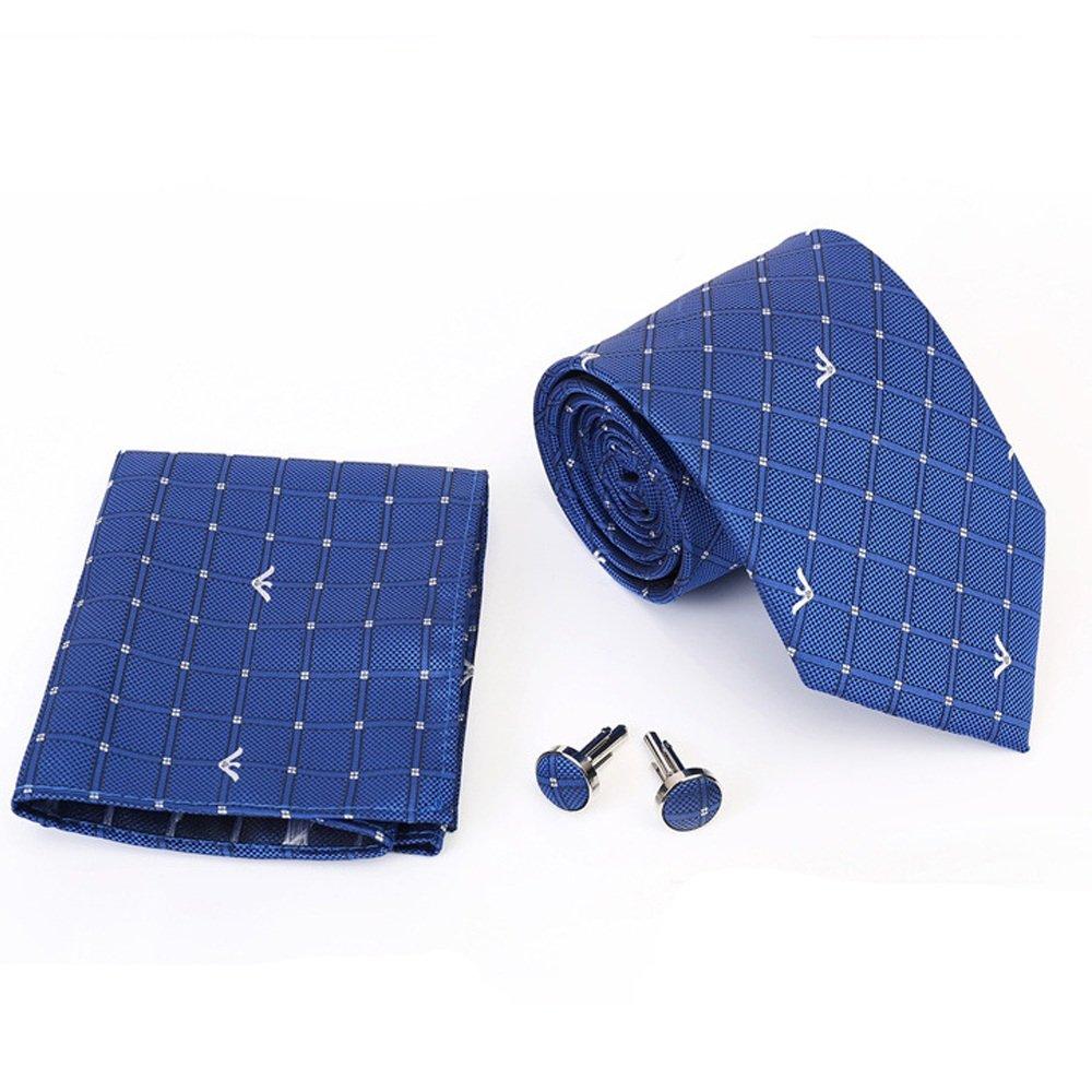 Junjiagao Pañuelo de Corbata para Hombre Celeste con Puntos ...