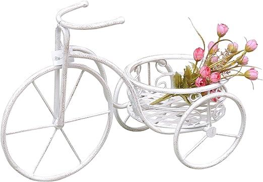 Macetero mesa bicicleta # 06 Blanco Flor Triciclo metal Shabby ...
