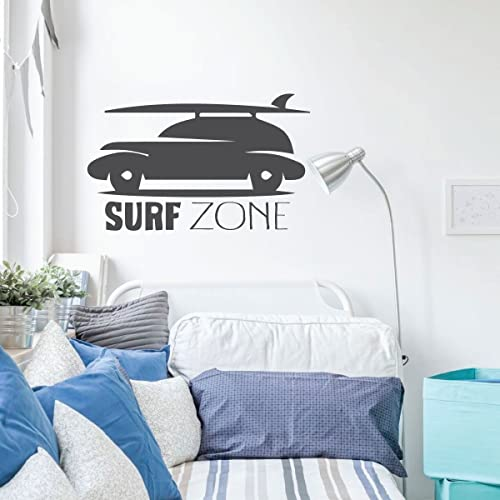 Amazon Com Surfing Wall Decor Surf Zone Car Wall Decals