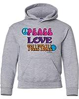 Sports Katz Big Girls 'Peace Love' VOLLEYBALL Hoodie