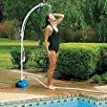 "81"" Portable Poolside Shower and Foot Rinse Station"