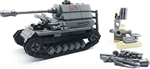 koolfigure Custom Sets of WW2 German Army Tiger Tanks, WWII Mini Building Blocks Toys for Kids Age 6+ (Tank A- 243 PCS)