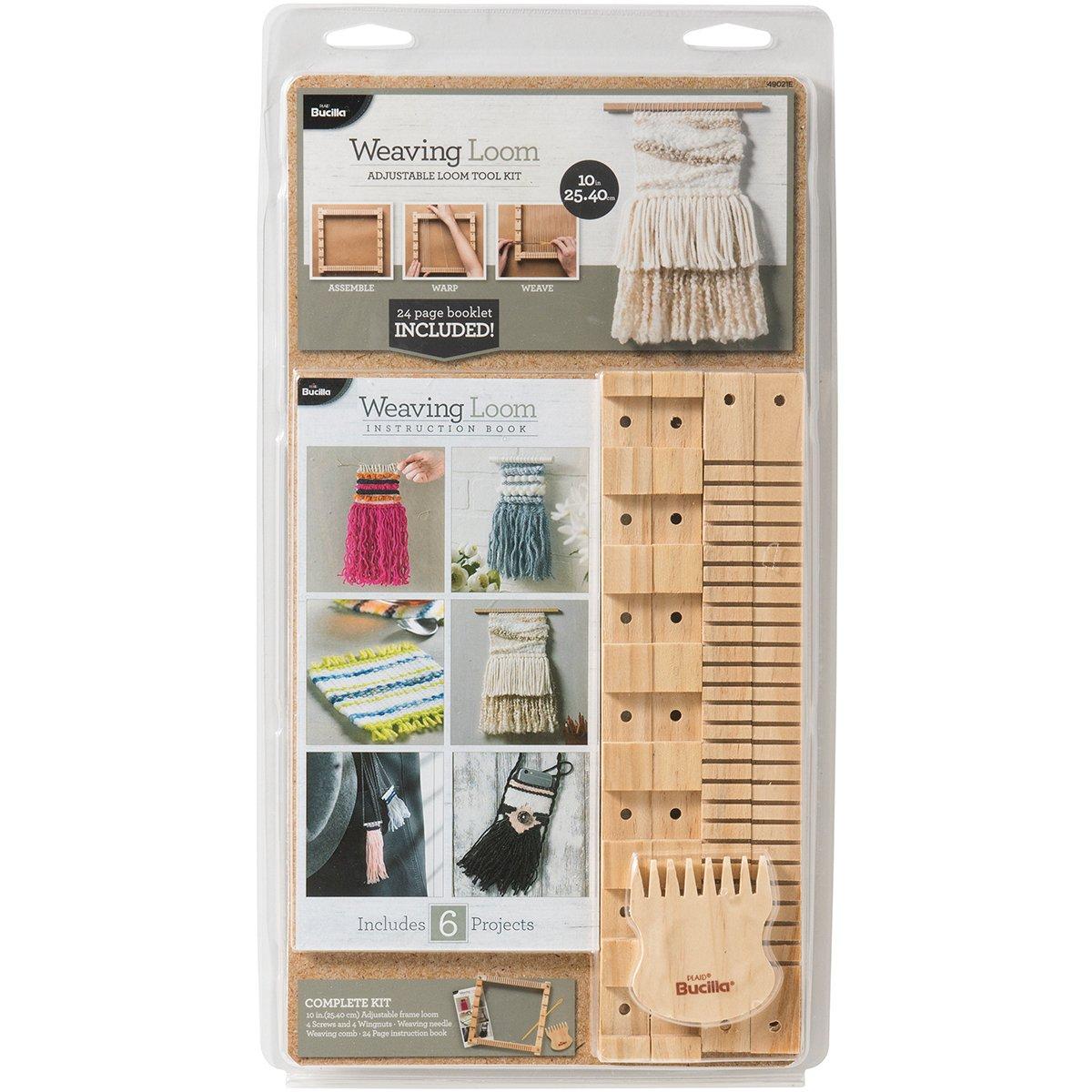 Bucilla 49021E 10 Inch Tool Weaving Loom