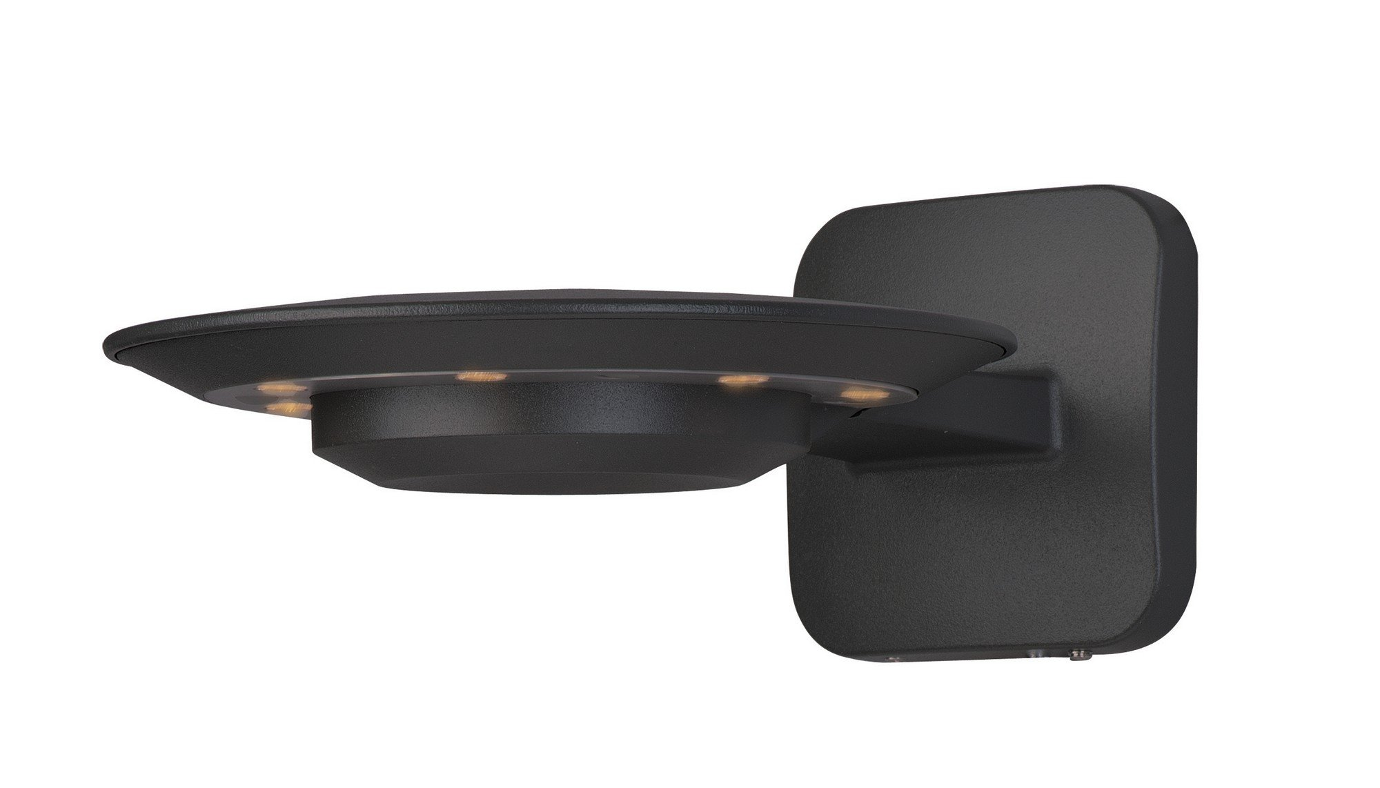 ET2 E41420-BZ Alumilux DC LED Outdoor Wall Sconce, Bronze Finish, Glass, LED Bulb, 50W Max., Dry Safety Rated, 2700K Color Temp., Acrylic Shade Material, 5645 Rated Lumens