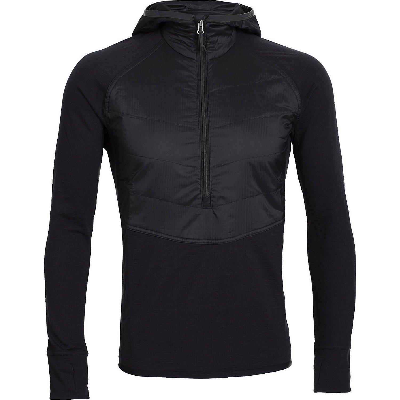 アイスブレーカー アウター ジャケット&ブルゾン Men's Ellipse Long Sleeve Half Zip Hood Black [並行輸入品] B072ML2XXC