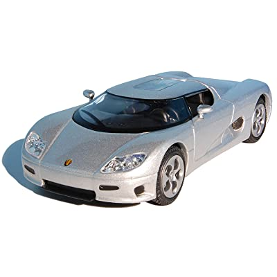 Koenigsegg CC8S Silver 2002 Year Swedish Sports Car Targa Top 1/43 Collectible Model Vehicle: Toys & Games
