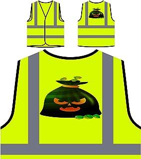 Arte Di Halloween Retrò Personalizzato Hi Visibilità Giacca Gilet di sicurezza q329v