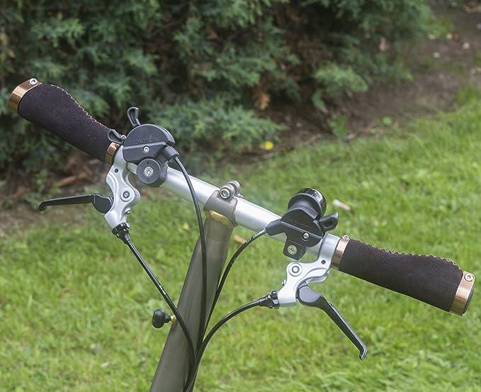 Mango ergonómico para Brompton - Bicicleta plegable (ante sintético, aluminio cerradura: Amazon.es: Deportes y aire libre