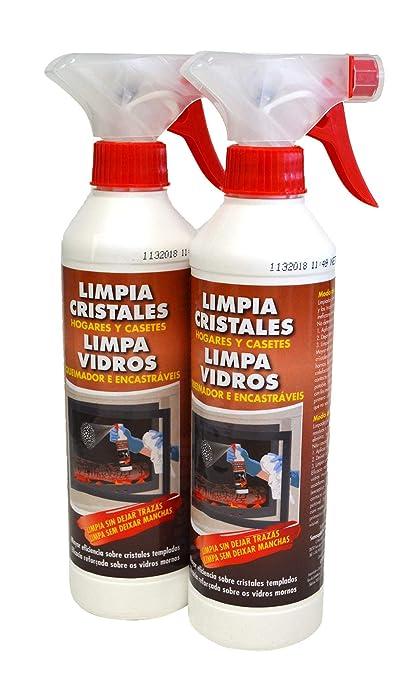 PYRO FEU 24512-12 Pack de 2 Limpiacristales para chimenea Antihollin 2 x 500 ml
