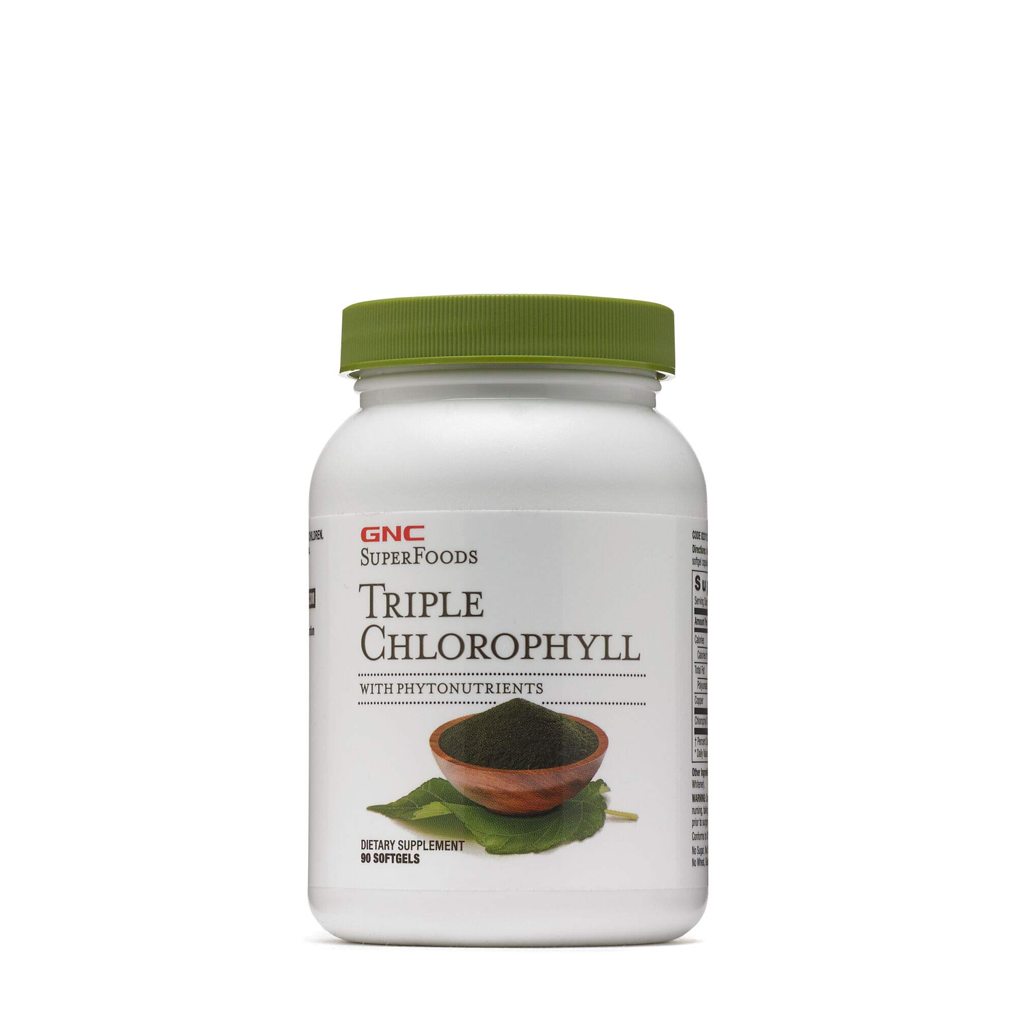 GNC Superfoods Triple Chlorophyll, 90 Softgels, Supports with Weight Loss