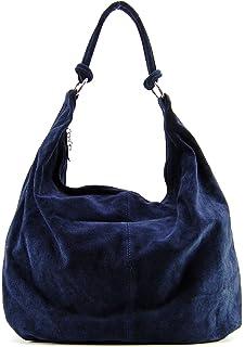 5051dd627c OH MY BAG Sac à main cabas cuir nubuck Opéra bleu fonce: Amazon.fr ...