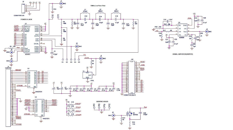 RETYLY IC AD9850 DDS Module G/éN/éRateur de Signaux 0-40 MHz 2 Ondes Sinuso?Dales et 2 Ondes Carr/éEs Sortie /éQuipement de Test de Bricolage TE439
