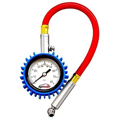 EPAuto Tire Pressure Gauge 80 PSI for Bikes Cars Motorcycle: Automotive
