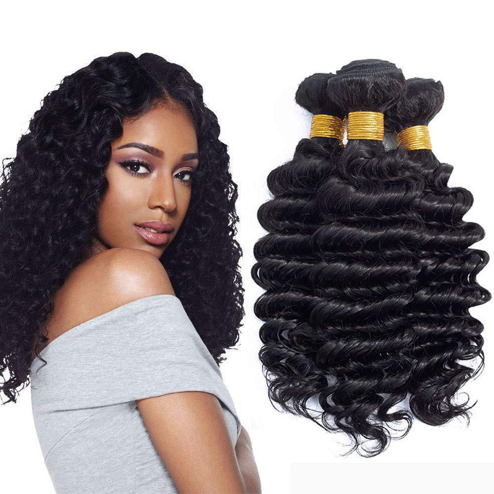 Amazon Brazilian 3 Bundles Virgin Hair Deep Curly Wave